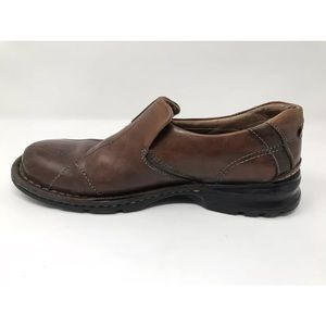 Clarks Escalade Brown Leather Slip-on Loafer 10